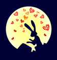 cute funny animal rabbit is a hare pounding the vector image vector image