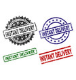 damaged textured instant delivery seal stamps vector image
