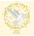 dove letter vector image
