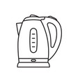electric kettle flat isolated on white icon vector image