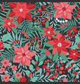 elegant christmas festive seamless pattern with vector image vector image