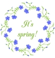 Floral frame spring wreath design element vector image vector image