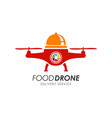 food drone delivery logo design template vector image vector image