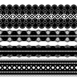 four black ribbons vector image vector image