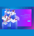 future digital services for work web banner vector image vector image