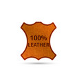 genuine leather product tag realistic abstract vector image