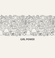 girl power banner concept vector image vector image