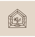 Greenhouse sketch icon
