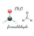 H2CO formaldehyde molecule vector image vector image