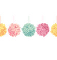 hanging pastel colorful birthday party vector image vector image