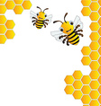 Happy bees background vector image