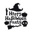 happy halloween party halloween theme handdrawn vector image