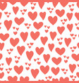 heart seamless pattern background coral red vector image