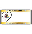 illinois state license plate vector image vector image