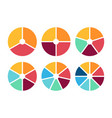infographic circle icon set flat style vector image vector image