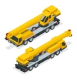 Isometric crane heavy equipment and machinery vector image vector image