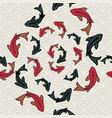 koi fish pond seamless pattern of asian art vector image vector image
