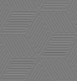 Lines and ovals gray embossed seamless vector image vector image