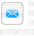 mail white button vector image vector image