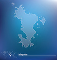 Map of Mayotte vector image vector image