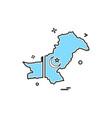 map pakistan icon vector image vector image