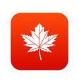 maple leaf icon digital red vector image vector image