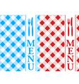 menu card vector image vector image