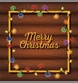 merry christams card with lights vector image vector image