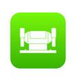 metalworking machine icon digital green vector image vector image