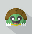 Modern Flat Design Turtle Icon vector image vector image