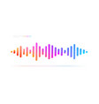 multicolored sound wave equalizer vector image vector image