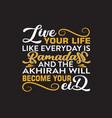 muslim celebration ramadan quote and saying good vector image vector image