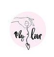 my love calligraphy for typography vector image vector image