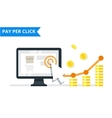 Pay Per Click internet marketing concept - flat vector image vector image