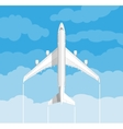 picture a civilian plane with clouds vector image