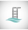 Pool design flat vector image
