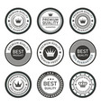 premium seal and labels silhouette vector image vector image