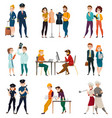 professional occupation people set vector image vector image