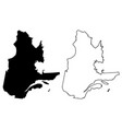 quebec canada map vector image