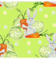 Rabbit with vegetables seamless pattern vector image vector image