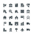 Real Estate Cool Icons 2 vector image vector image