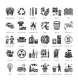 recycling flat glyph icons pollution recycle vector image