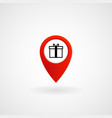 red location icon for gift shop eps file vector image