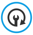 Repeat Service Flat Rounded Icon vector image