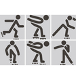 roller skates icons vector image