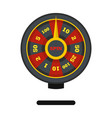 roulette wheel icon flat style vector image vector image