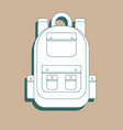 rucksack icon outline rucksack icon for web vector image vector image