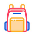 rucksack icon outline vector image vector image