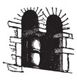 saxon architecture window extremely simple vector image vector image