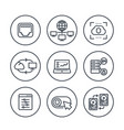 servers networks cloud solutions line icons vector image vector image
